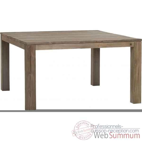 Table basse en teck recyclé brossé carrée Drift moyen modèle
