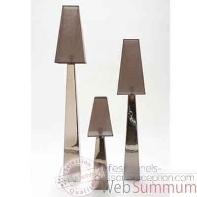 Lampe saba petit mod le design fdc 6195argent dans for Lampe pipistrello petit modele