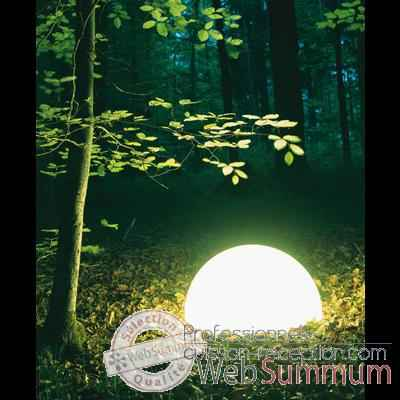 Lampe ronde socle a visser gres sable Moonlight -magslssr350.0153