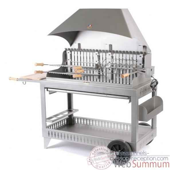 barbecue etchalar inox sur chariot le marquier bci200 de barbecue professionnel. Black Bedroom Furniture Sets. Home Design Ideas