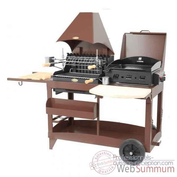 barbecue iholdy inox sur chariot le marquier bci208 de. Black Bedroom Furniture Sets. Home Design Ideas