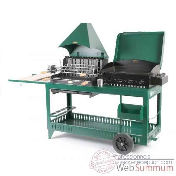 plancha et barbecue gaz sur chariot photos professionnels cuisson reception. Black Bedroom Furniture Sets. Home Design Ideas