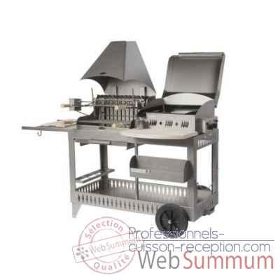 barbecues sur chariot dans barbecue professionnel sur. Black Bedroom Furniture Sets. Home Design Ideas