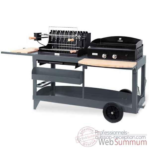 grilloir acier gm hauteur reglable bac le marquier de barbecue professionnel. Black Bedroom Furniture Sets. Home Design Ideas