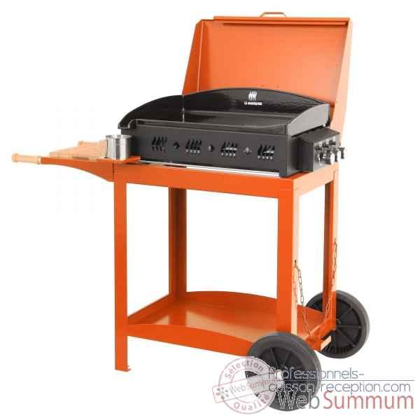 plancha ainara acier avec couvercle sur chariot le. Black Bedroom Furniture Sets. Home Design Ideas