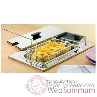 Friteuse encastrable professionnelle table de cuisine - Friteuse sans huile professionnelle roller grill ...