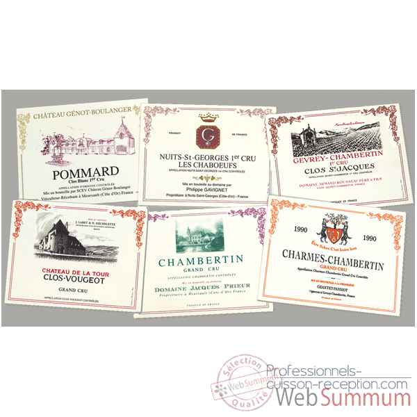 Sets de table plastique vin Bourgogne -4195