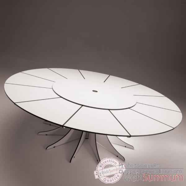 Table arthur extremis pour 8 personnes arow08 de mobilier for Table design 8 personnes