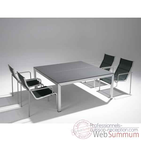 table carr int rieur ext rieur dans mobilier plein air. Black Bedroom Furniture Sets. Home Design Ideas