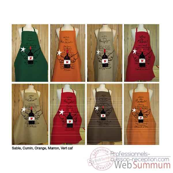 Tablier Alma Mater prudent vins de bourgogne -2462marron