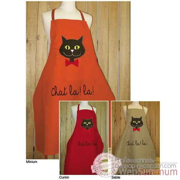 Tablier de cuisine Alma Mater tete de chat application -taba2388sable