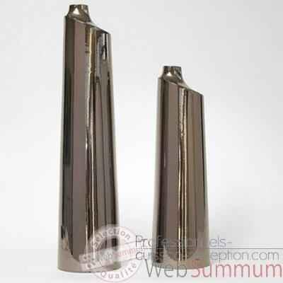 vase paname argent design fdc 5117argent dans argent de. Black Bedroom Furniture Sets. Home Design Ideas
