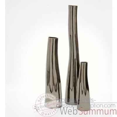 Vase bali argent design fdc 5166argent dans argent de for Vase de decoration interieur