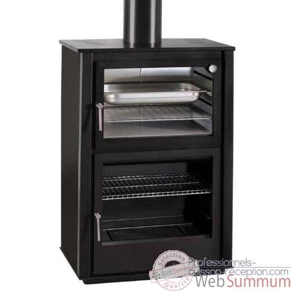 poele en acier avec four xportia nerja dans po le bois. Black Bedroom Furniture Sets. Home Design Ideas